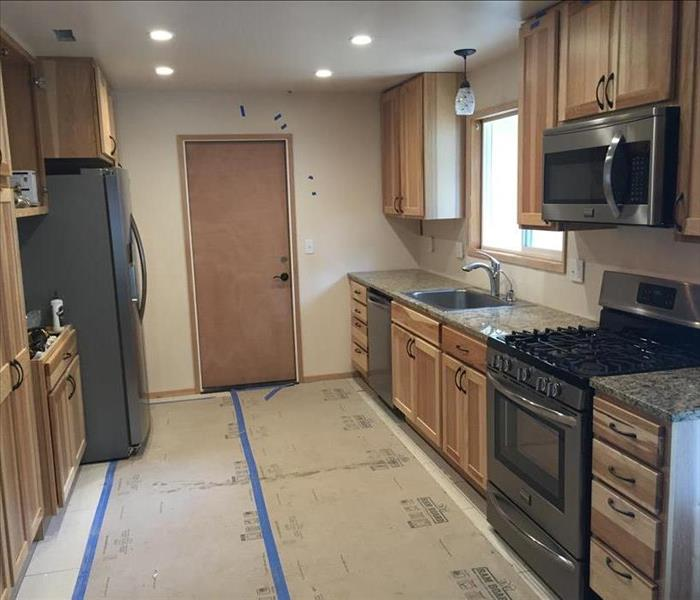 Kitchen Remodel Following House Fire After