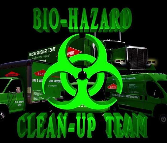 Bio Hazard clean up team Servpro Vehicles