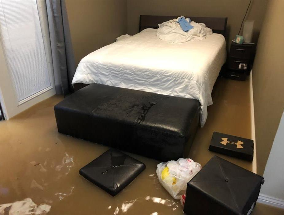 flooded bedroom